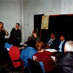 Jude, left, teaching on Permaculture Design Course in Havana, Cuba, '96