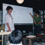 Jude Fanton teaching Permaculture course in Yokohama, Japan, 2000